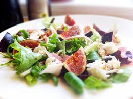 chicken salad with fig prosciutto and pine nuts